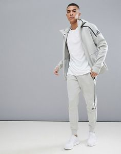 Shop the latest adidas performance ZNE 2 hoodie in beige trends with ASOS! Free delivery and returns (Ts&Cs apply), order today! Sport Outfits, Boy Outfits, Fashion Online, Men's Fashion, Tech Fleece, Adidas Outfit, Adidas Performance, Dress Codes, My Wardrobe