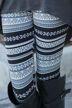 Digital Winter Leggings | White Plum