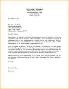 resume letter template