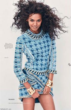 Elle France for its latest edition enlists supermodel Liya Kebede for a shoot with prolific fashion photographer Andreas Sjodin captured with styling from fashion stylist Jeanne Le Bault. Editorial Fashion, Fashion Art, Fashion Models, Style Fashion, Pretty Black, Beautiful Black Women, Ethiopian Beauty, Liya Kebede, Balmain Dress