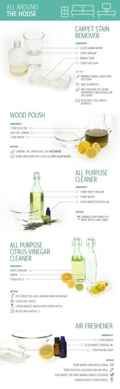 Make Your Own Natural Cleaning Products to Clean Almost Anything