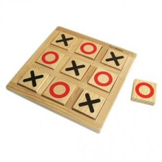 Noughts & Crosses – wooden puzzles for kids