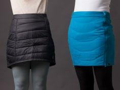 Smartwool's PhD® SmartLoft Skirt, left, and Dynafit's Radical Primaloft Skirt, right