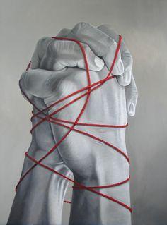 """Saatchi Online Artist: Arturo Samaniego; """"""""Bondage"""" unbreakable vow!"""