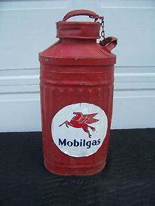 vintage gas and oil cans | Mobile Oil Can Ellison Vintage Antique Gas Pump | eBay