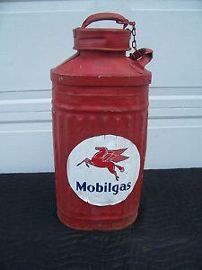 vintage gas and oil cans | Mobile Oil Can Ellison Vintage Antique Gas Pump | eBay