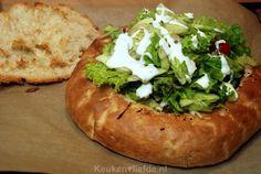 Gevuld Turks brood met shoarma