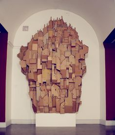 Nina Lindgren is a Sweden based artist that has constructed this profoundly intricate piece entitled Cardboard Heaven