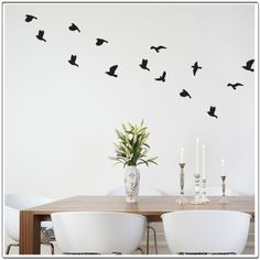 Coming to the Anderson home soon!    Flocked REGULAR pack of 25 Birds  Wall Decal by Decorette on Etsy, $20.00