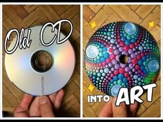 O futuro só depende de você! : Recycling CD into ART Dot Mandala Painting Suncatcher Dot Painting Tools, Dot Art Painting, Mandala Painting, Diy With Kids, Art For Kids, Recycled Cds, Peacock Crafts, Fun Craft, Painted Fan