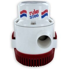 "RULE 3700 NON AUTOMATIC BILGE PUMP 24V. Rule 3700Non-Automatic 24vHeavy duty construction for both commercial and pleasure boat use; known for trouble free operation and reliability.  1-1/2"""" (38mm) discharge outlet."