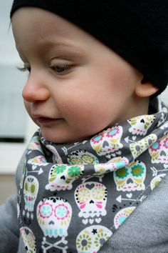 Not sure my kid could pull this off but it could be an alternative to the cloth bibs. When does the drooling stop?!