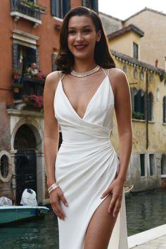 allthingsbella: Bella Hadid arriving the Bulgari Party in Venice...