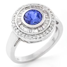 Colour Stone and Diamond Halo Ring.      www.uwekoetter.com