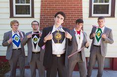 Groomsmen were Power Rangers
