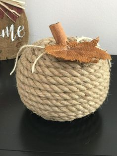 Crafts for kiddies to create Rope Crafts, Craft Stick Crafts, Diy And Crafts, Twine Crafts, Easter Crafts For Kids, Fall Crafts, Halloween Crafts, Diy Rustic Decor, Diy Decoration