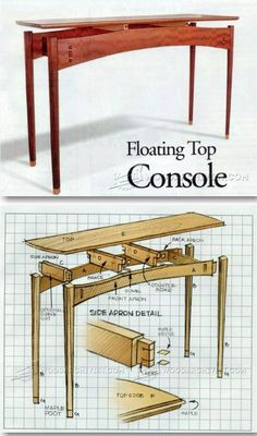 Console Table Plans - Furniture Plans and Projects | WoodArchivist.com