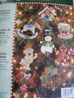Bucilla Felt Applique Holiday Ornament KIT,CHRISTMAS COLLECTION,Set 8,Engelbreit #Bucilla