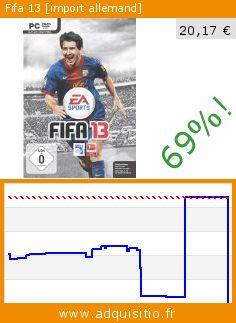 Fifa 13 [import allemand] (Jeu informatique). Réduction de 69%! Prix actuel 20,17 €, l'ancien prix était de 64,05 €. http://www.adquisitio.fr/electronic-arts/fifa-13-import-allemand-3