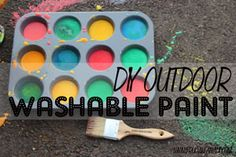 Outdoor washable, non toxic paint