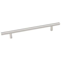 This stainless steel oversized cabinet bar pull with beveled edge design is a part of the Naples Series from the Elements Collection by Hardware Resources and is perfect for use on cabinet doors and drawers capable of accepting a mounted pull.