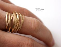 FREE Texture wire ring pattern