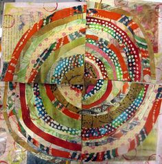 circle quilt -- this is fabulous. I love the wonkiness.