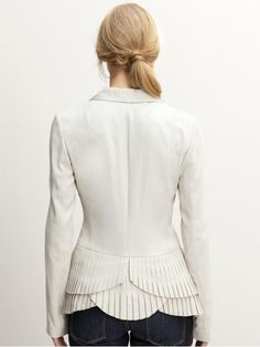 tiered ruffle-back blazer