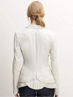 tiered ruffle-back blazer