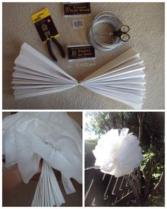 Image detail for -... for making pom pom s perfect decorations for an outdoor garden wedding