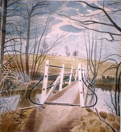Eric Ravilious: Iron Bridge at Ewenbridge, [Date Unknown]  My personal favourite of his work