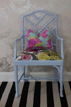 Vintage 1930s Mahogany Sheraton Style Settee Sofa Loveseat Blue