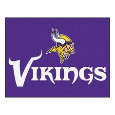 """Minnesota Vikings All-Star Mat 33.75x42.5 - Show your team pride and add style to your tailgating party with FANMATS area rugs. Made in U.S.A. 100% nylon carpet and non-skid recycled vinyl backing. Machine washable. Officially licensed. Chromojet printed in true team colors.FANMATS Series: ALLSTARTeam Series: NFL - Minnesota VikingsProduct Dimensions: 33.75""""x42.5""""Shipping Dimensions: 34""""x23""""x1"""". Gifts > Licensed Gifts > Nfl > Minnesota Vikings. Weight: 3.40"""