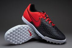 7efa42e4acf6 Nike MagistaX Pro TF - Noir  Rouge  Blanc. prodirectsoccer.com. Chaussures  Foot, Chaussures Homme, Chaussure De ...