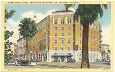 1940s Vintage Postcard - Hotel Sainte Claire (San Carlos and Market Streets) San Jose California Vintage Postcard http://www.amazon.com/dp/B008C3T56W/ref=cm_sw_r_pi_dp_fREdub0RY782V