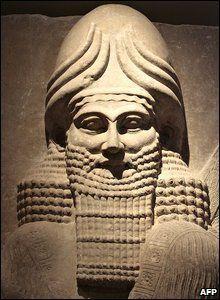 Part of an exhibit in the Assyrian hall of Iraq's newly-opened National Museum