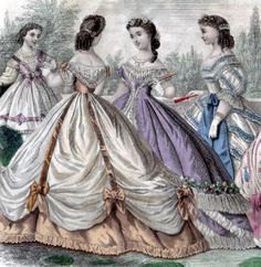 [Costume] While trying to find styles from the 1860s I was able to find these evening dresses which can be worn by the sisters through out the show.