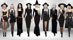 Modern day Witches 1. • Hat - Spooky Stuff • Hair [xx] - @darkosims3 • Necklace [xx] - Mr.Dapo • Top [xx] - Echoehver • Skirt [xx] - @sims4-marigold • Hand harness [xx] - @alainavesna • Boots [xx] - @sentate 2. • Hair [xx] - @darkosims3 • Necklace...