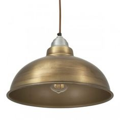 Old Factory Vintage Pendant Light in Brass by Industville - Lime Lace £59 #industrial #lighting #light #retro