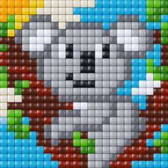 #pixelhobby Beaded Cross Stitch, Cross Stitch Kits, Cross Stitch Designs, Cross Stitch Patterns, Hama Beads Patterns, Beading Patterns, Seed Bead Crafts, Pixel Drawing, Pixel Crochet