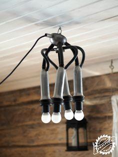 diy ceiling light, milking, cow, farmlife