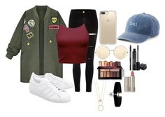 """""""Untitled #172"""" by perlahak on Polyvore featuring River Island, WithChic, adidas Originals, Speck, Victoria Beckham, SO, Rodial, Ilia and Kate Spade"""