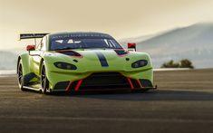 Download wallpapers Aston Martin Racing Vantage GTE, sportscars, 2018 cars, road, new Vantage, Aston Martin