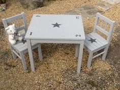 1000 ideas about table et chaise enfant on pinterest for Table avec 2 chaises