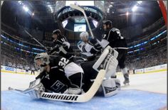 Game 7 west semi finals, Kings won of course. Jonathan Quick, Game 7, Los Angeles Kings, Semi Final, Finals, Hockey, Happy, Field Hockey, Final Exams