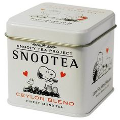 """nae-design: """" Too cute! Snoopy branded tea tin found at Amazing Tea Shop, Japan. Tea Packaging, Packaging Design, Images Snoopy, Tea And Crumpets, Tea Quotes, Poster Design, Cuppa Tea, Charlie Brown And Snoopy, Tea Tins"""