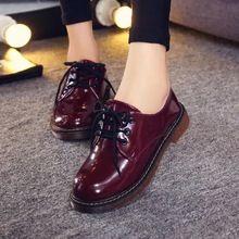 Fat envío de la mujer moda Lace Up mediados de becerro botas de combate Punk tobillo Martin botas zapatos planos 8 colores(China (Mainland))