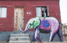 Elephant Street Art In South African Villages To Give People Hope