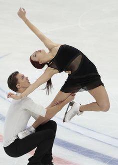 Ekaterina Bobrova & Dmitri Soloviev, of Russia, skating their winning free dance: Rostelecom Cup 2016