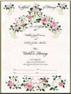 how to get wedding certificate